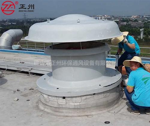 广东江门华泰纸业房屋顶通风工程